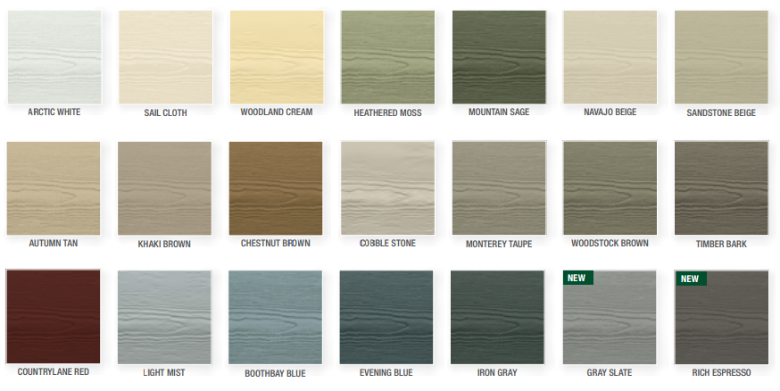 See Installed Color Examples Here