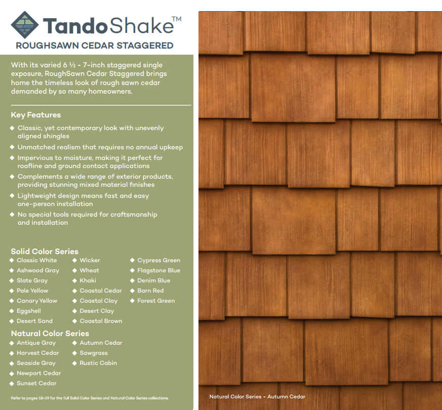 Tando Vinyl Shake Amp Shingle
