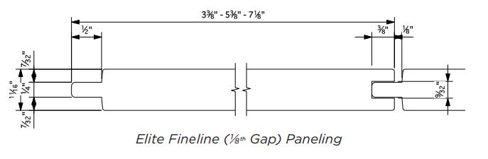 Cedar Fineline Nickel Gap