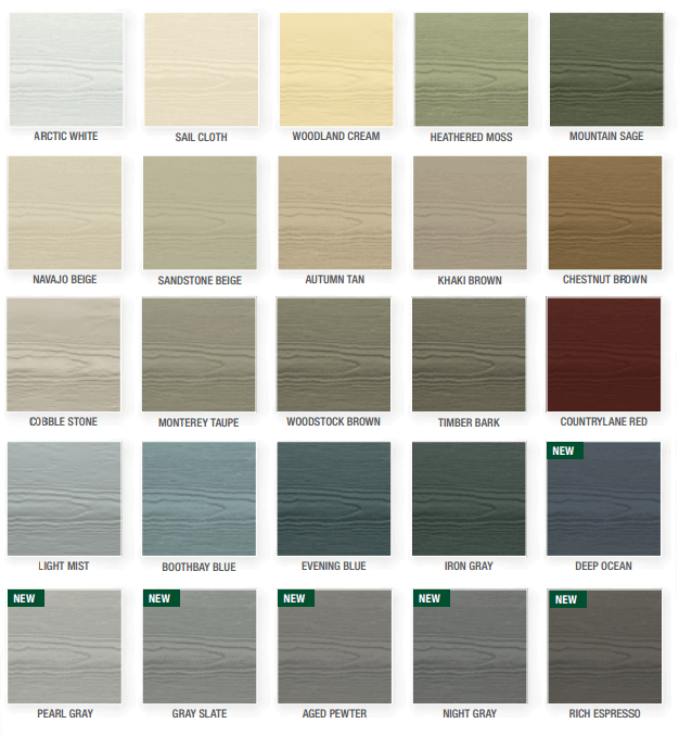 James hardie plank siding for New siding colors