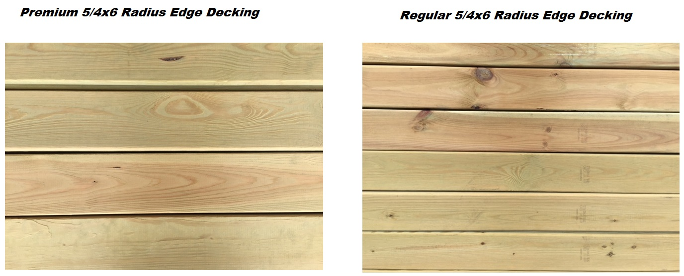 Pressure treated lumber for Standard deck board lengths